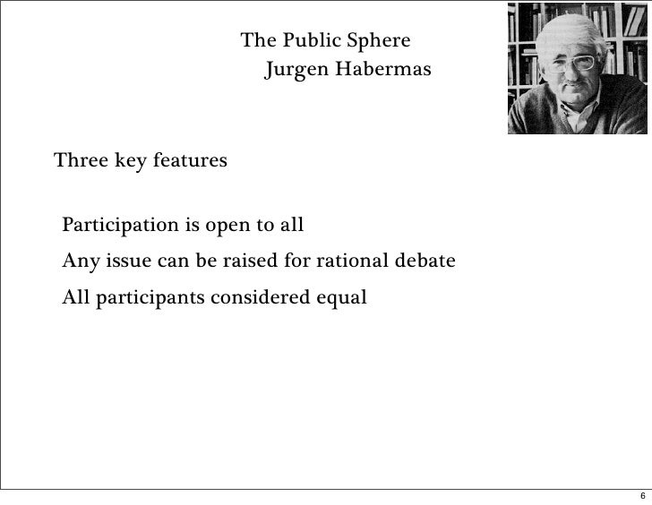 an analysis of habermas perspectives in the public sphere Discussions will stress criticisms of habermas's model from the perspective of  gender, post-colonial polities, class analysis and popular culture ultimately, the.