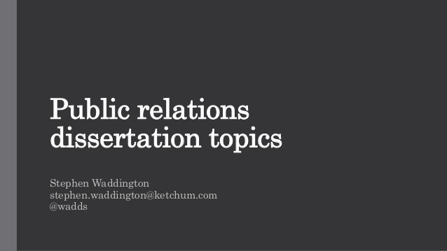 hot topics in public relations