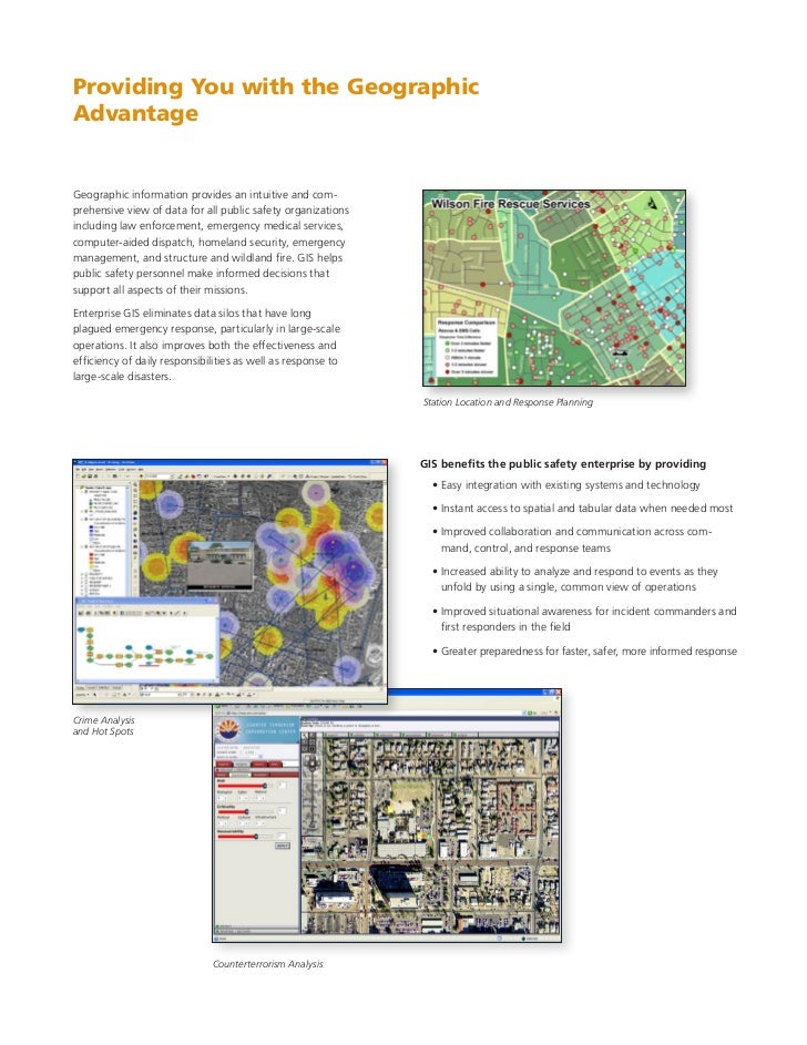 Public Safety Enterprise Gis Solutions For Community