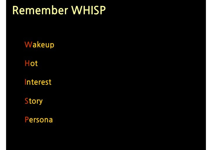 Remember WHISP   Wakeup   Hot   Interest   Story   Persona