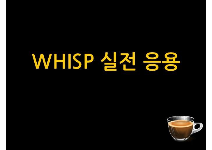 WHISP 실전 응용