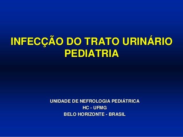 INFECÇÃO DO TRATO URINÁRIO PEDIATRIA UNIDADE DE NEFROLOGIA PEDIÁTRICA HC - UFMG BELO HORIZONTE - BRASIL