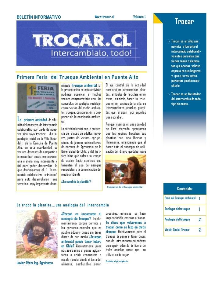 B0LETÍN INFORMATIVO                                              Www.trocar.cl                        Volumen 1,          ...