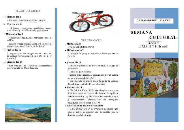 TERCER CICLO Martes día 8 - Visita al PUNTO LIMPIO Miércoles día 9 - Jornada de juegos deportivos intercentros de Seseña. ...