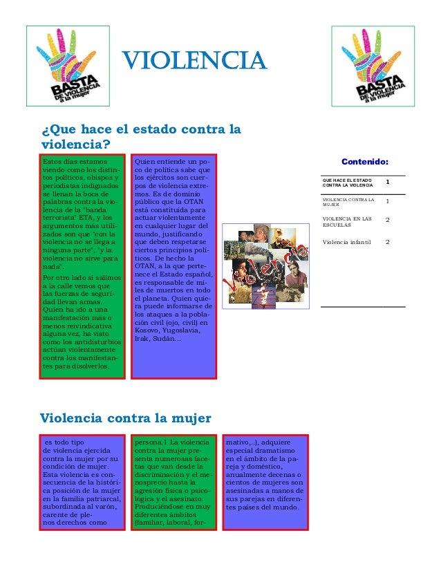 violencia                                                                                           7/11/2012¿Que hace el ...