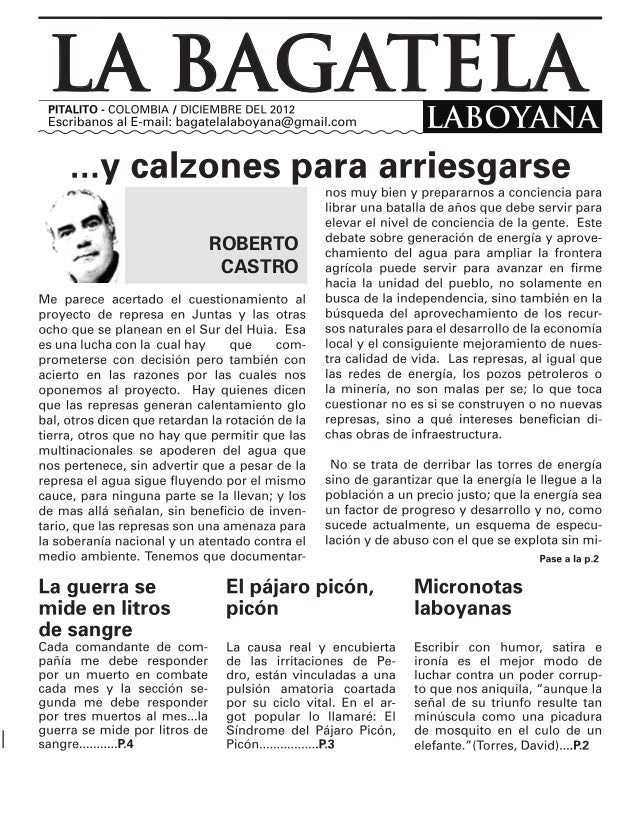 LA BAGATELA   ROBERTO    CASTRO