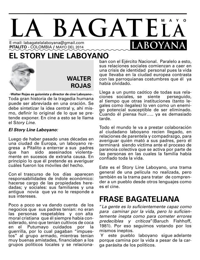 Publicación digital bagatela_mayo_2014