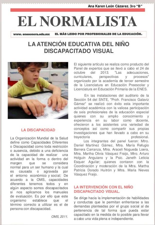 """Ana Karen León Cázarez. 3ro """"B""""a  EL NORMALISTA www. enesonora.edu.mx  EL MÁS LEIDO POR PROFESIONALES DE LA EDUCACIÓN .  L..."""