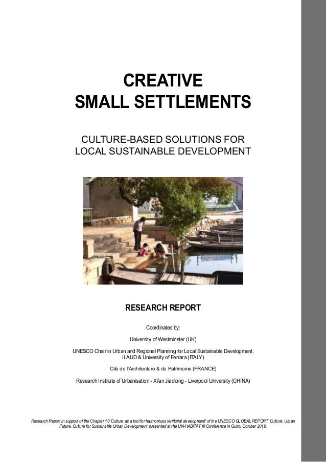 Creative Small Settlements Research Report