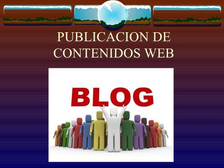 PUBLICACION DE CONTENIDOS WEB