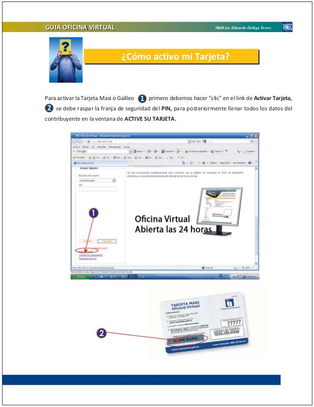 Publicacion oficina virtual version 2011 for Oficina del contribuyente