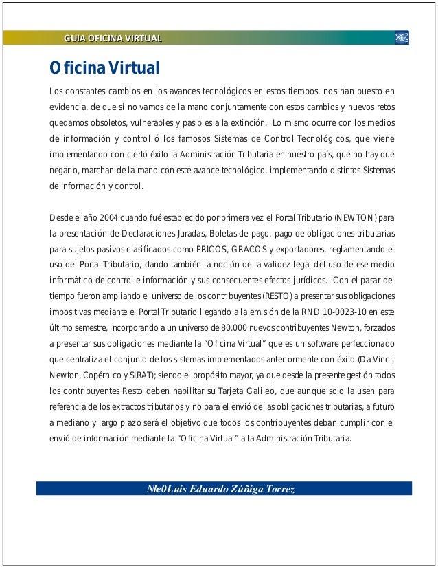 Publicacion oficina virtual version 2011 for Oficina de gestion tributaria