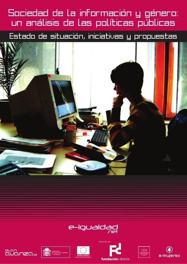 Sociedad de la información y género: un análisis de las políticas públicas  Estado de situación, iniciativas y propuestas ...