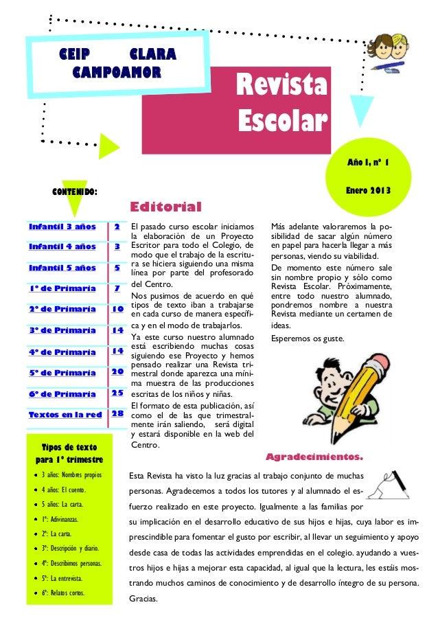 CEIP    CLARA            CAMPOAMOR                                                                   Revista              ...