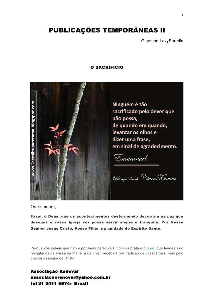1          PUBLICAÇÕES TEMPORÂNEAS II                                                              Gladston LevyPortella  ...