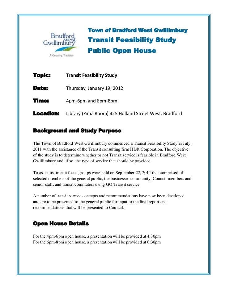 Town of Bradford West Gwillimbury                              Transit Feasibility Study                              Publ...