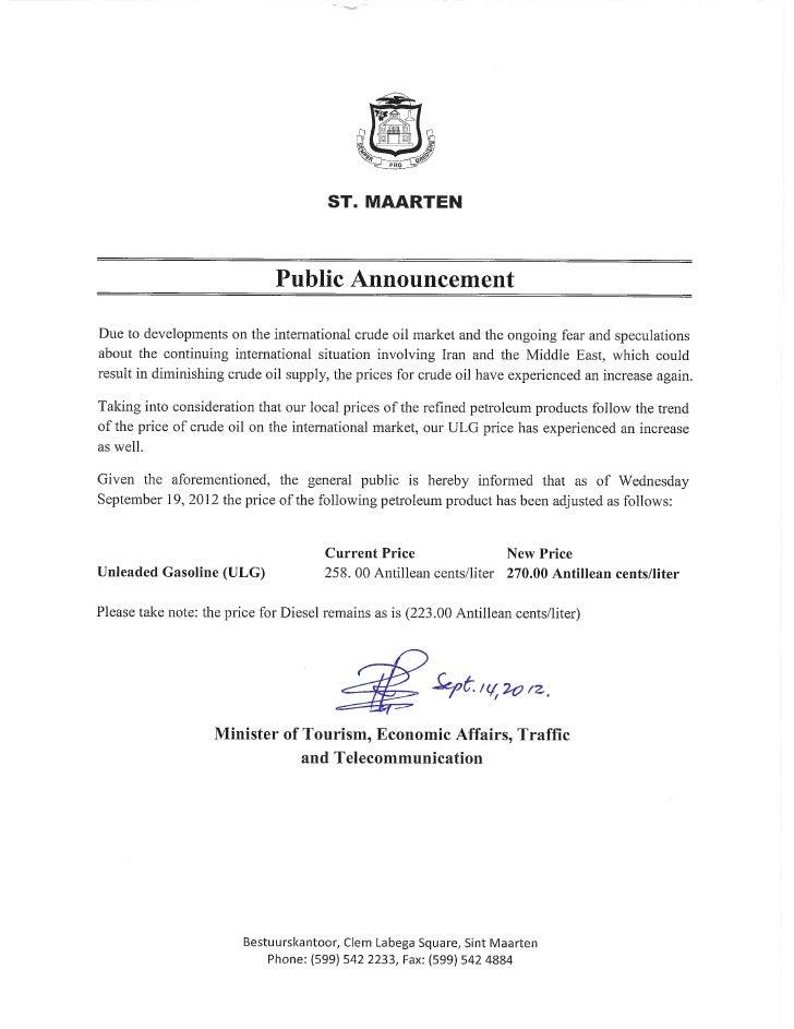 Public announcement september 19, 2012[1]