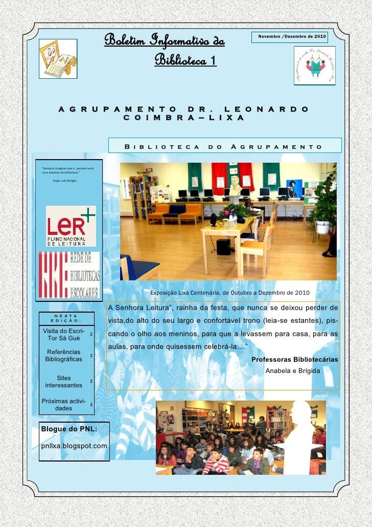 Boletim Informativo da                            Novembro /Dezembro de 2010                                              ...