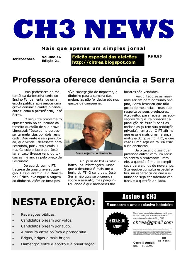 Professora oferece denúncia a Serra Uma professora de ma- temática da terceira-série do Ensino Fundamental de uma escola p...