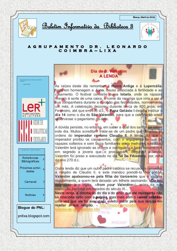 Março/Abril de 2011                                                         Boletim Informativo da Biblioteca 3           ...