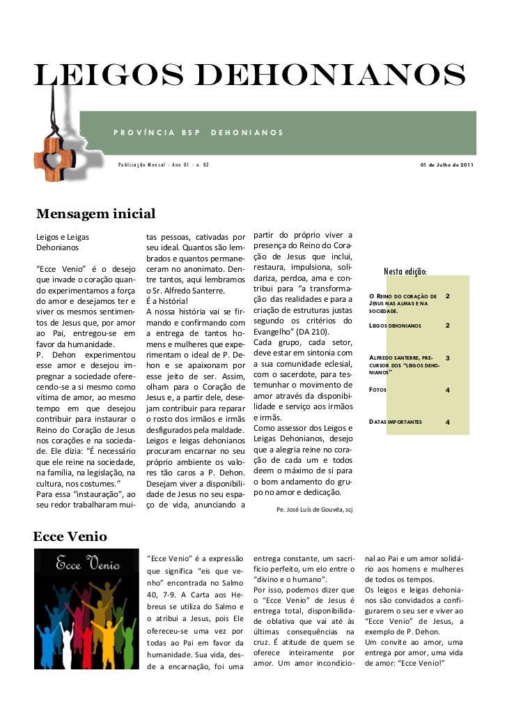 Leigos Dehonianos                      PROVÍNCIA BSP                         DEHONIANOS                       Publicação M...