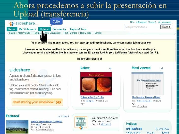 publicar una presentación de power point en slideshare