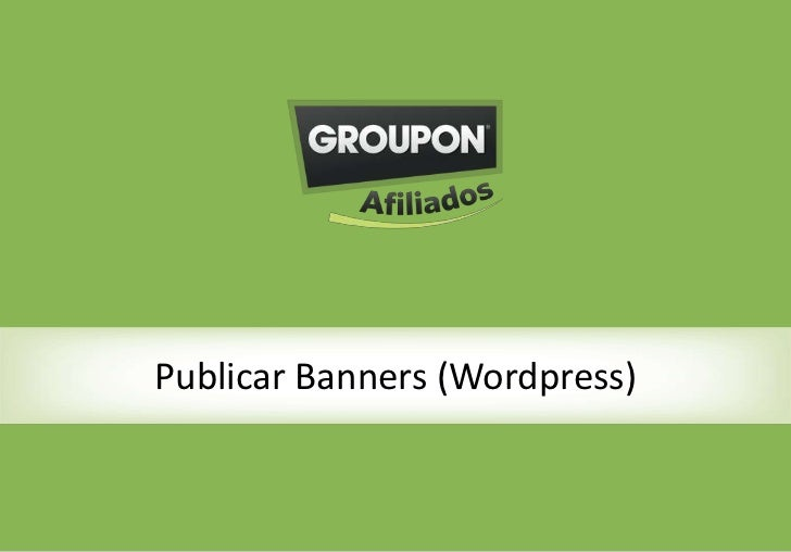 Publicar Banners (Wordpress)