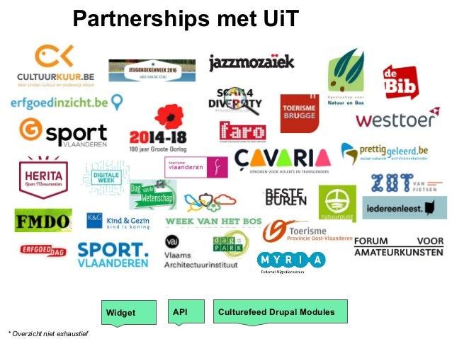 Widget API Culturefeed Drupal Modules Partnerships met UiT * Overzicht niet exhaustief