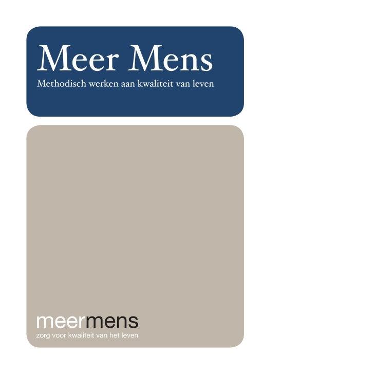 Publicatie Meer Mens 2011