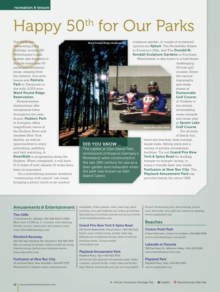 Westchester Destination Guide 2012