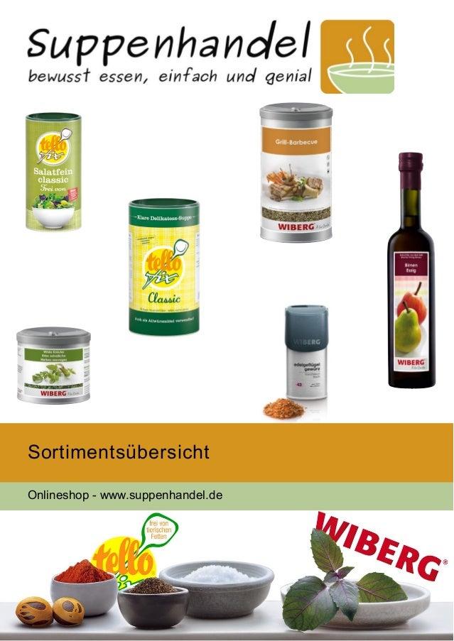 Sortimentsübersicht Onlineshop - www.suppenhandel.de