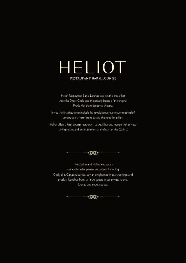 Hippodrome casino heliot restaurant