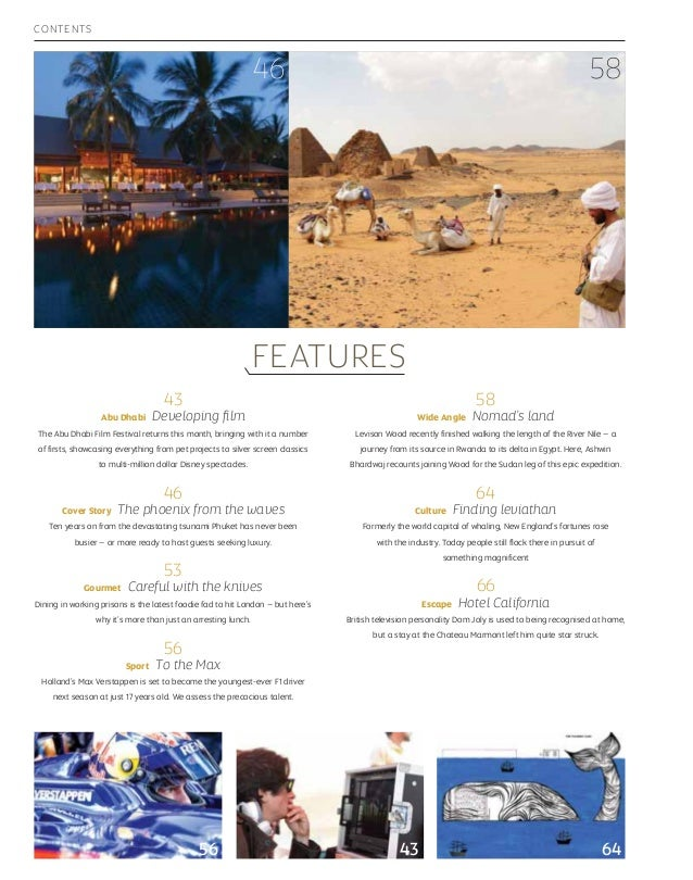 Etihad Airways inflight Magazine - October 2014