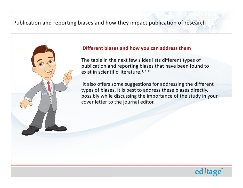 Publication and reporting biases and how they impact publication of r – Publication Cover Letter