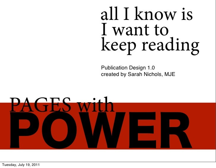 all I know is                         I want to                         keep reading                         Publication D...