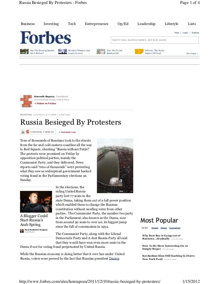 Russia Besieged By Protesters - Forbes                                                                                    ...
