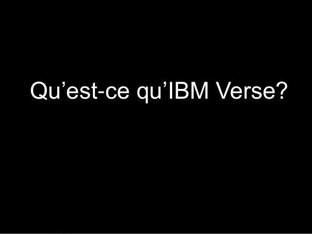 Qu'est-ce qu'IBM Verse?