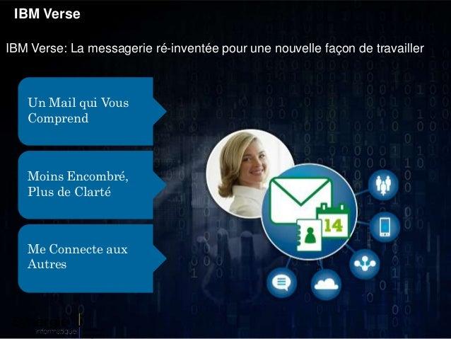 IBM Verse IBM Verse: La messagerie ré-inventée pour une nouvelle façon de travailler Un Mail qui Vous Comprend Moins Encom...