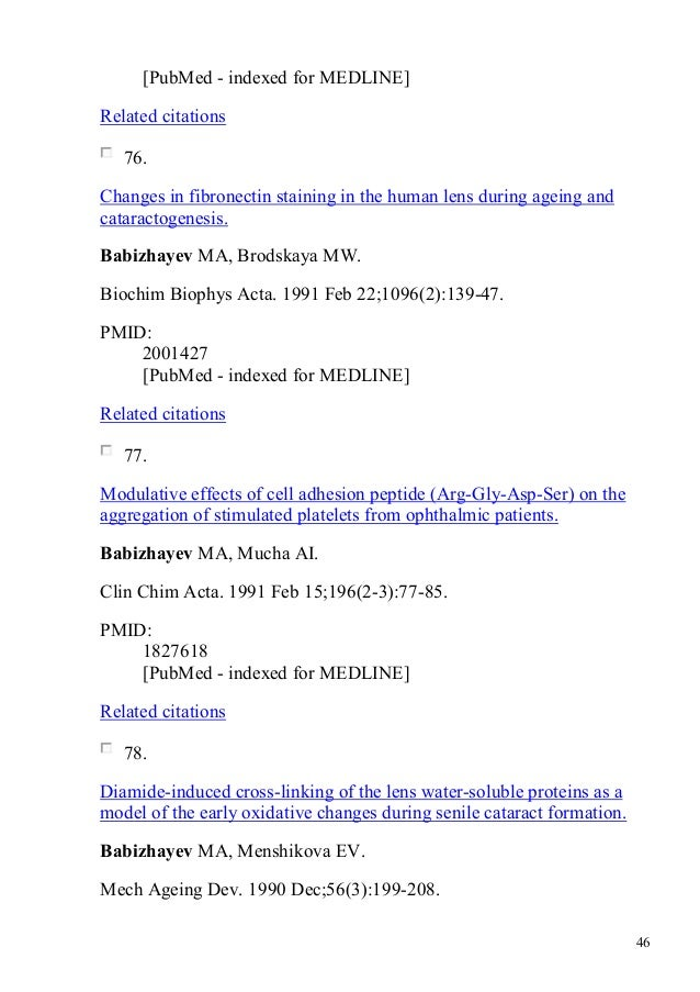 Publications 1 to dr mark a babizhayev pmid 1737065 46 fandeluxe Images