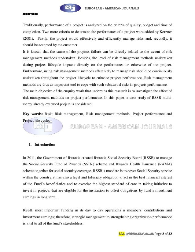 Multi projects case study essay