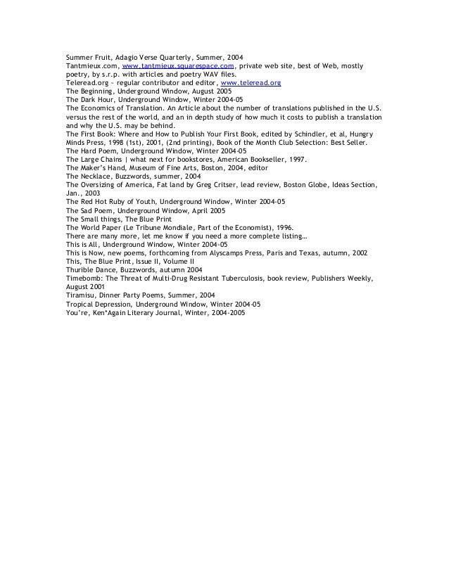 Publications In Alpha Order