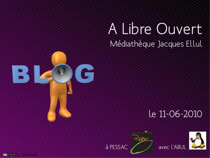A Libre Ouvert Médiathèque Jacques Ellul           le 11-06-2010à PESSAC      avec lABUL