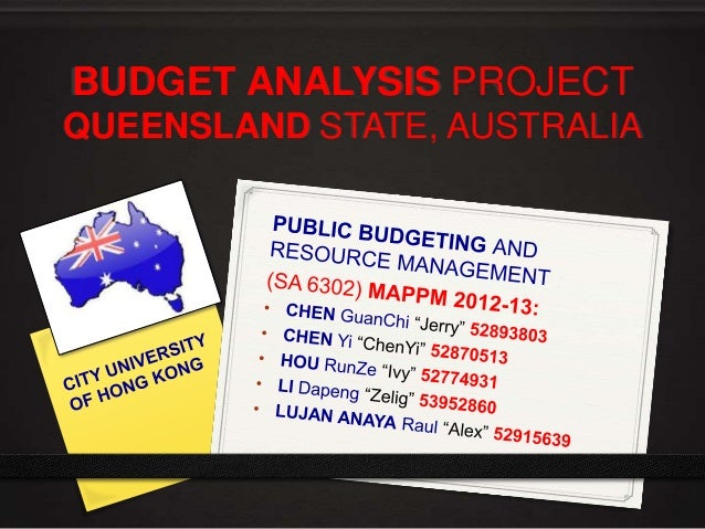BUDGET ANALYSIS PROJECT QUEENSLAND STATE, AUSTRALIA
