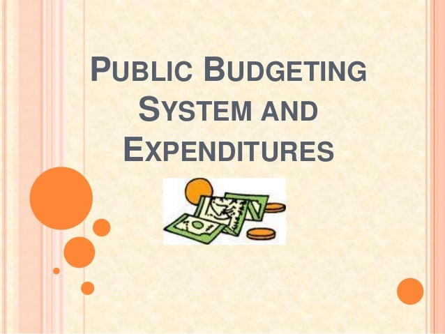 PUBLIC BUDGETING   SYSTEM AND  EXPENDITURES