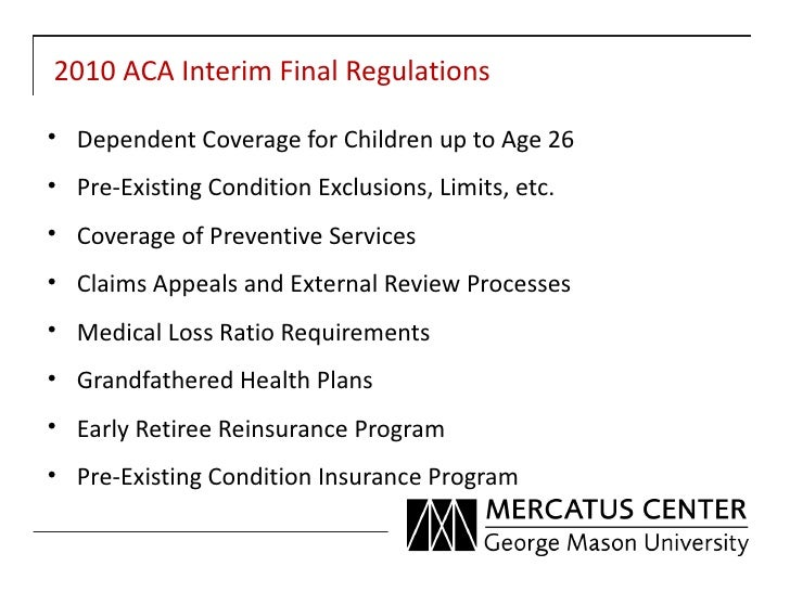 Public choice analysis of interim final rules march 2012 Slide 2