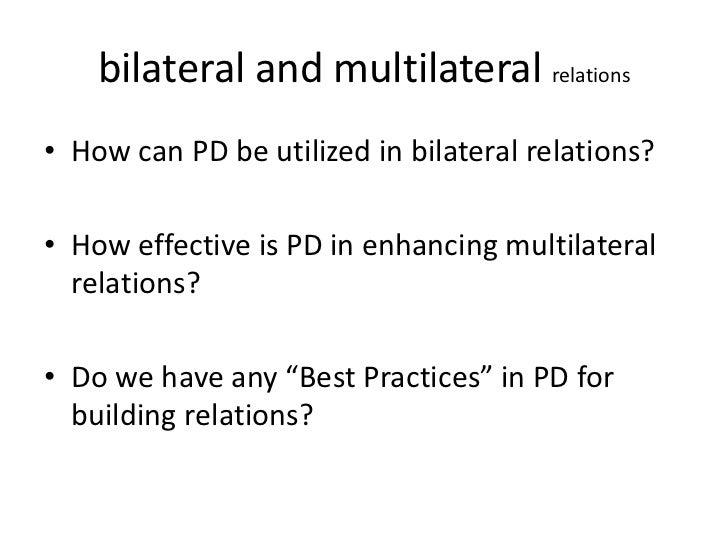 Multilateral vs bilateral diplomacy essay