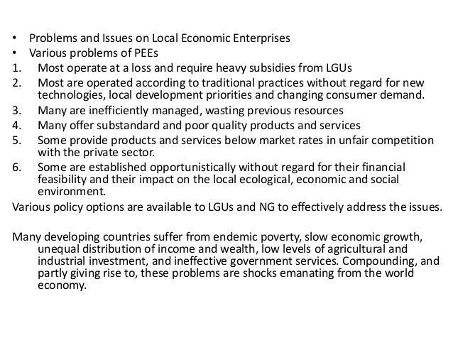 Public Enterprise in Less Developed Countries