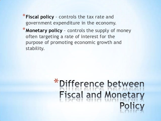 Infinite Room, And The Fiscal Between Monetary Policy Difference the