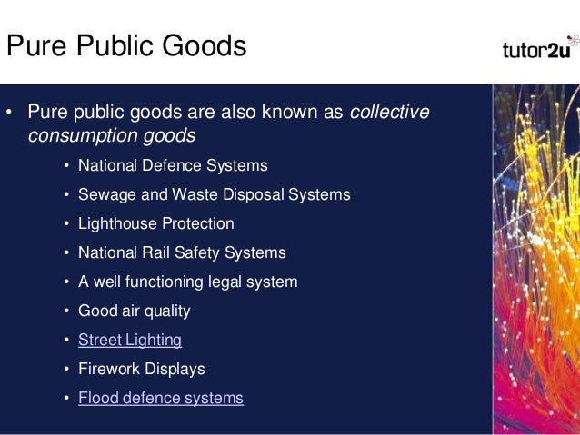 As Economics Public Goods