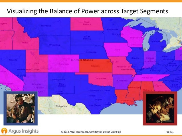 Visualizing the Balance of Power across Target Segments                  © 2013 Argus Insights, Inc. Confidential: Do Not ...